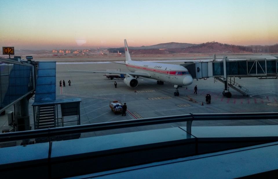 Airport terminal Air Koryo Pyongyang DPRK
