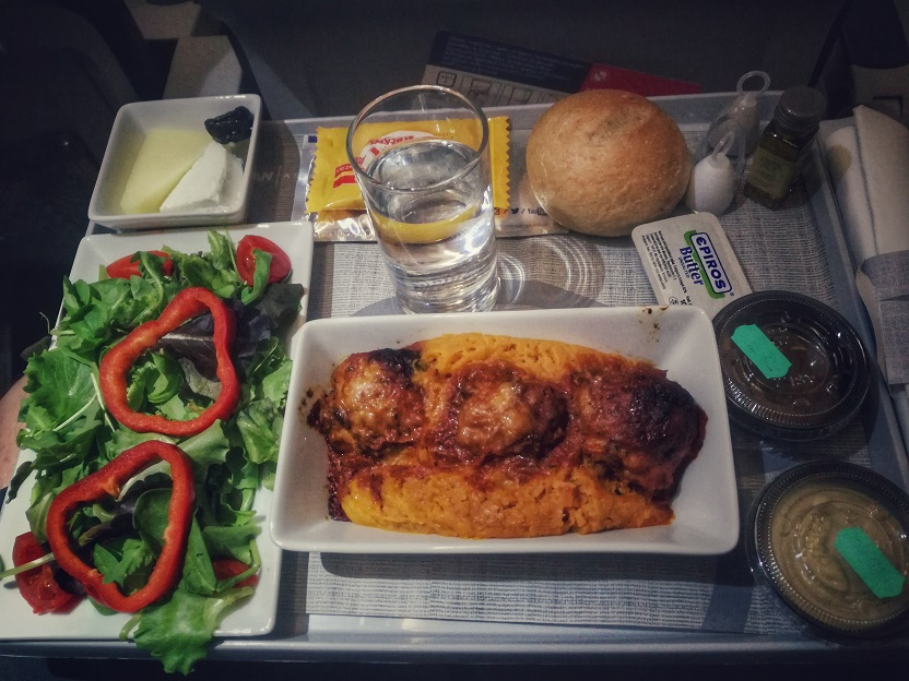 Aegean Business Class Meal