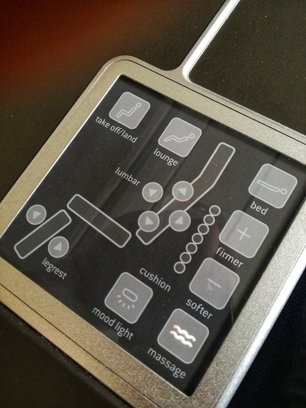A330 SN Business Class Seat function