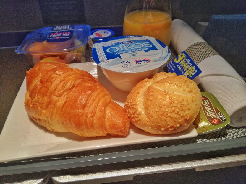SN A330 Business Class Breakfast