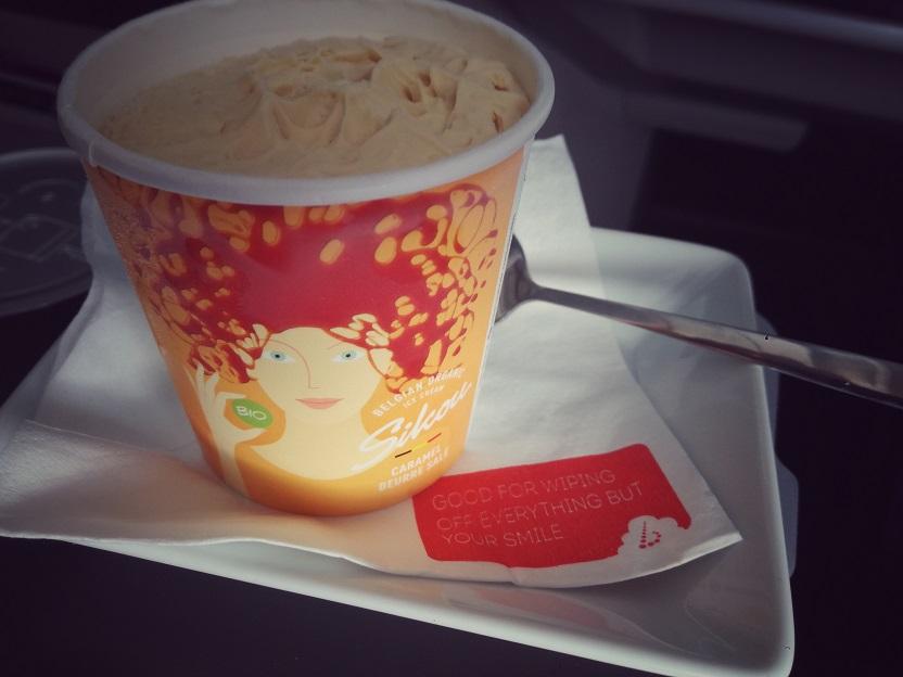 SN A330 Business Class ice cream