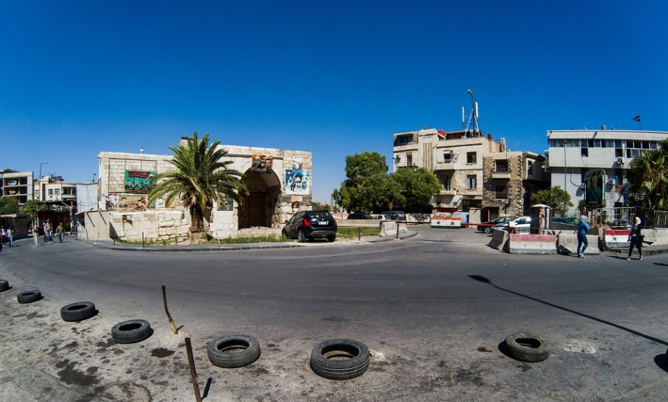 Bab Touma Checkpoint and Square
