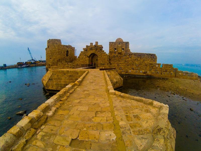 Sidon Sea Castle Lebanon