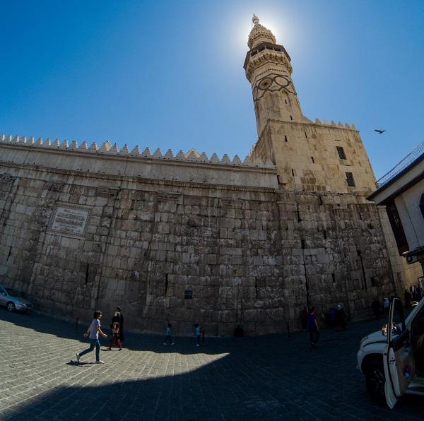 Umayyad mosque Minaret Damascus Syria