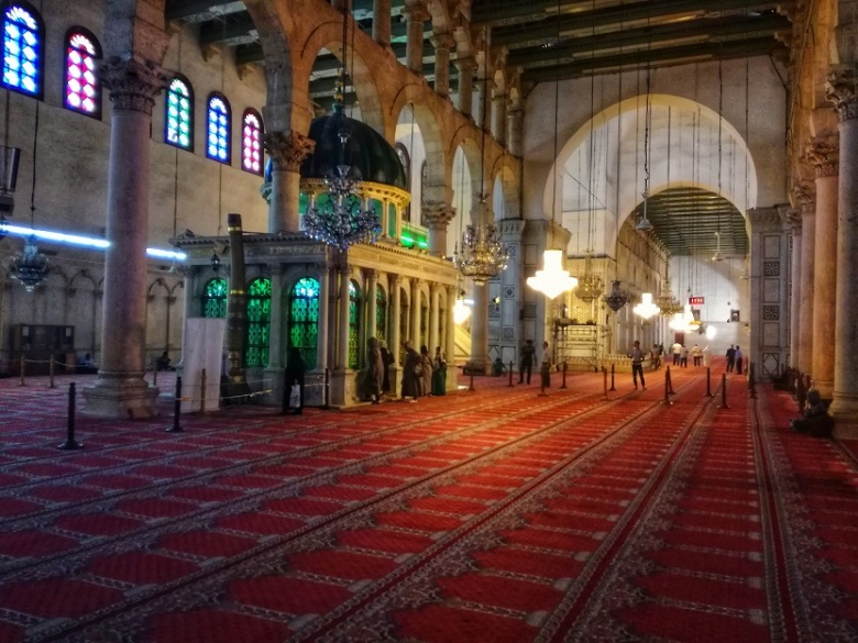 Inside Umayyad Mosque Damascus Syria