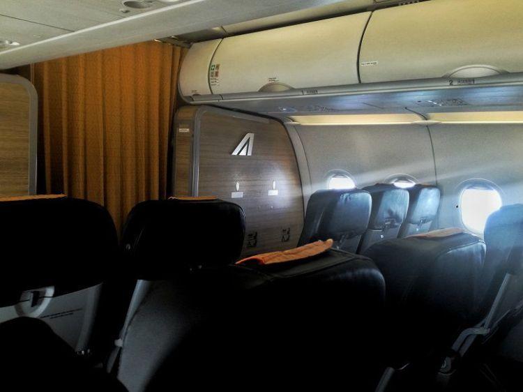 Business class cabin A320