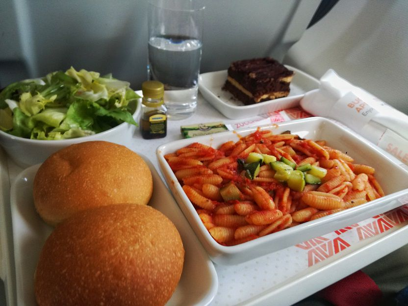 Pasta Business Class Alitalia A320