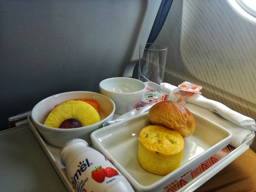 Breakfast business class Alitalia A320