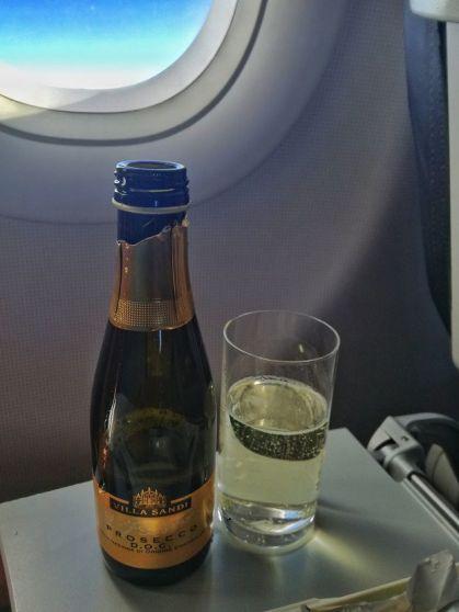 Prosecco Sparkling Wine Alitalia A320 Business Class (2)